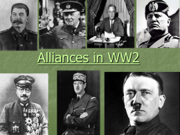 Alliances WW2