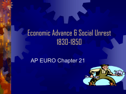 AP21 Economic Advance & Social Unrest21