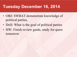 Political Parties Quest Review Dec17