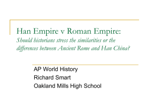 Rome and Han Dynasty Comparison Activity