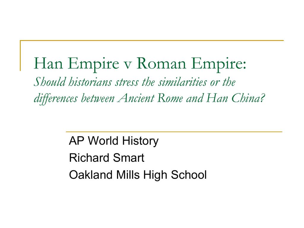 han china and the roman empire