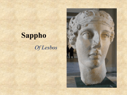 PowerPoint on Sappho of Lesbos