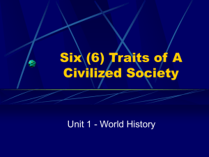 Six (6) Traits of A Civilized Society