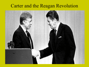 Carter and the Reagan Revolution