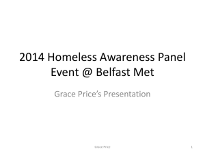 2013 Homeless Awareness Panel Event @ Belfast Met 