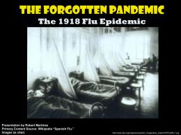 1918 Flu Epidemic