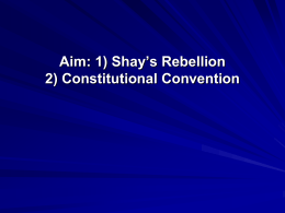 Shay Rebellion Powerpoint