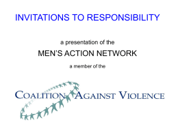 INVITATIONS TO RESPONSIBILITY a presentation of the