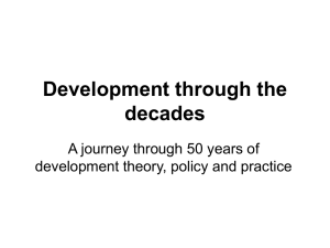 Development Theory, Policy and Practice
