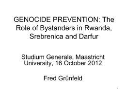 comparative genocide and humanitarian