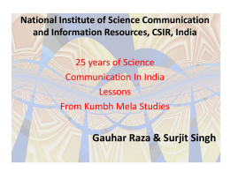 National Institute of Science Communication and Information