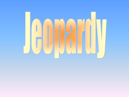 Jeopardy Game - Creator - Land