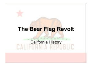 The Bear Flag Revolt