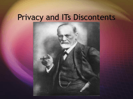 Privacy and Its Discontents