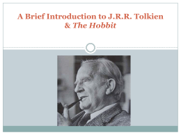 J An Introduction to J.R.R. Tolkien & The Hobbit