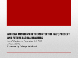 african missions in the context of past, present and future