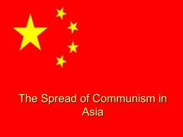The Spread of Communism in Asia