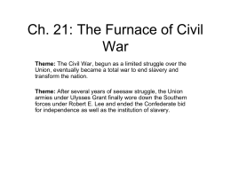 21 The Furnace of the Civil War