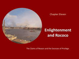 Chapter Eleven Enlightenment and Rococo