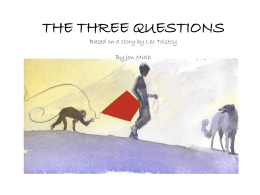 the three questions - Priceless Literacy