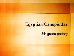 Egyptian Canopic Jar