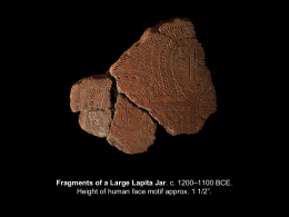 Fragments of a Large Lapita Jar. c. 1200–1100 BCE. Height of