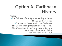 Option A: Caribbean History