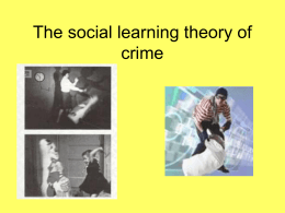 The social learning theory of crime