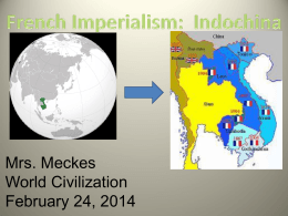Positive effects of French Indochina and imperialism