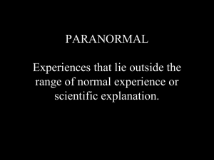 Science and the Paranormal 12.49 Mb