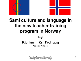 Sami culture and language in the new teacher training