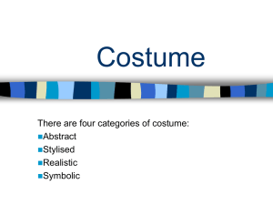 The physical setting costume