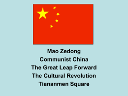 Mao Zedong Communist China The Great Leap Forward The