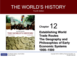 Establishing World Trade Routes