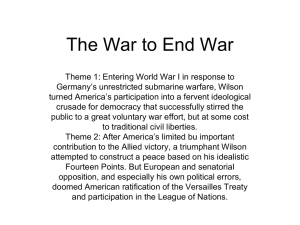 30 The War to End War