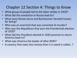 Chapter 12 Section 4: Things to Know