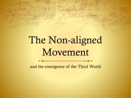 The Non-aligned Movement