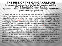THE RISE OF THE GANGA CULTURE