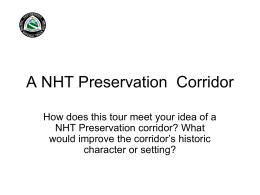 A NHT Preservation Corridor