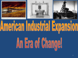 Industrialization Power Point for modern U.S. Teacher