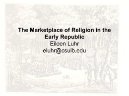 Booklist report by course columbus state community college the marketplace of religion in the early republic eileen luhr fandeluxe Image collections