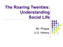 PPT-The Twenties Culture