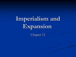 Imperialism and Expansion