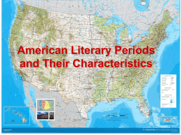 American Literary Periods and Their Characteristics