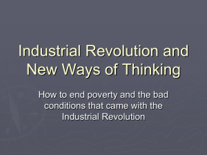 Industrial Revolution and New Ways of Thinking