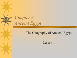 Chapter 3 Ancient Egypt