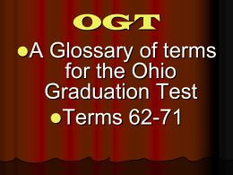 PPT - OGT Terms 62-71