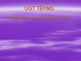PPT - OGT Terms 22-31