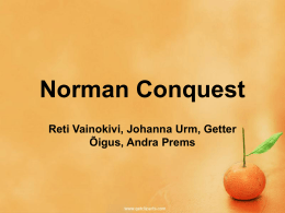 POWERPOINT+norman+conquest