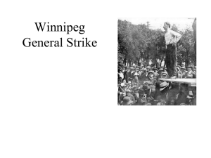 Background to the Winnipeg General Strike